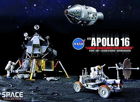 Apollo 16: Lunar Highlands Exploration CSM + LM + Lunar Rover + Astronauts