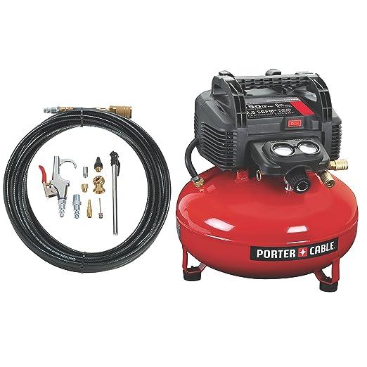 PORTER-CABLE C2002-WK Oil-Free UMC Pancake Compressor with 13-Piece Accessory