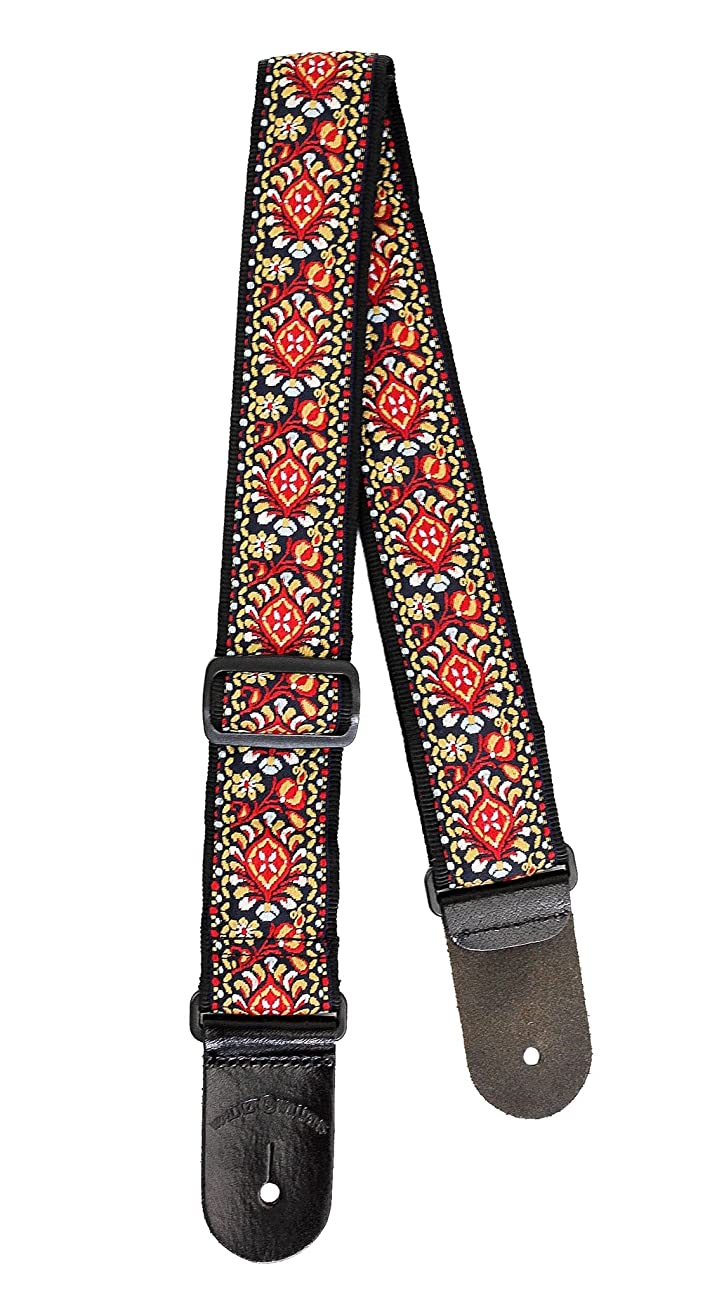Walker & Williams H-21 Mandala Woven 60's Style Hootenanny Hippie Guitar Strap 2