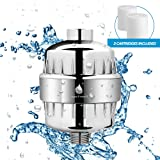 [NEW 2018] 12-Stage Shower Water Filter with 2 Filter Cartridges - Our Shower Water Softener will Boosts Skin & Hair Health - Reduce Hard Water, Chlorine, Impurities & Odor - Aqua Franeli