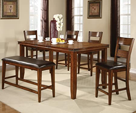 Figaro Counter Height 6pc Dining Set