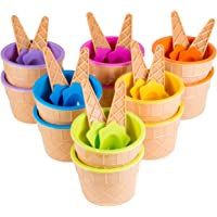 12-Pack Green Direct Plastic Sundae Ice Cream Frozen Yogurt Cups