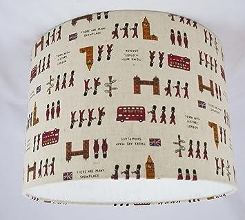 7 abat jour fait main 28cm londres impression coton n lin lin tissu cuisine maison m55. Black Bedroom Furniture Sets. Home Design Ideas