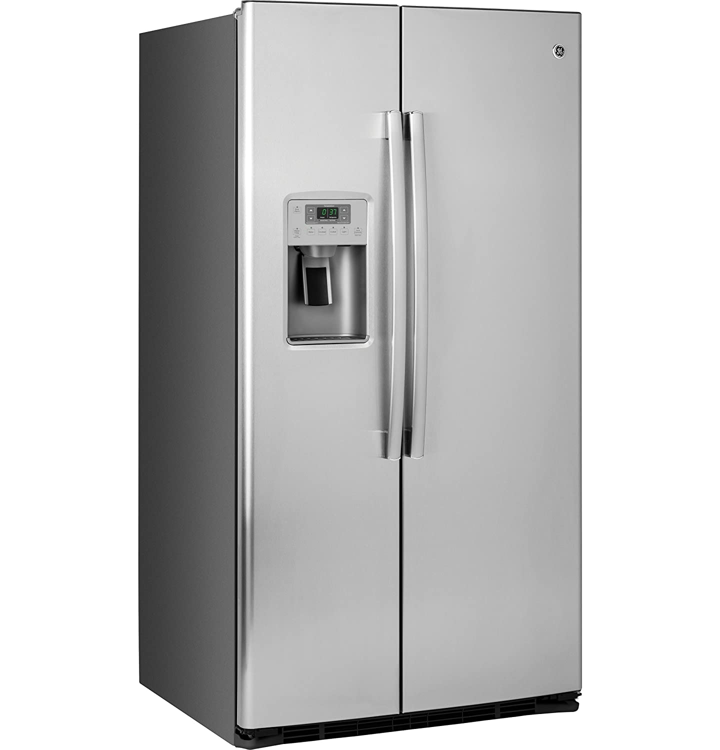 "GSE25HSHSS GE ENERGY STAR® 25.4 Cu. Ft. Side-By-Side Refrigerator Stainless Steel ""Out of Box"""