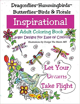 Let Your Dreams Take Flight: Large Print Adult Coloring Book
