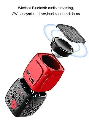 Bluetooth Speaker Mini Portable Wireless Bluetooth Speakers ALLWAY Bluetooth 5.0 Computer Speaker with Micro SD Card Port,Springy bass for Laptop,MacB