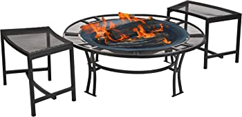 CobraCo Steel Mesh Rim Fire Pit Set
