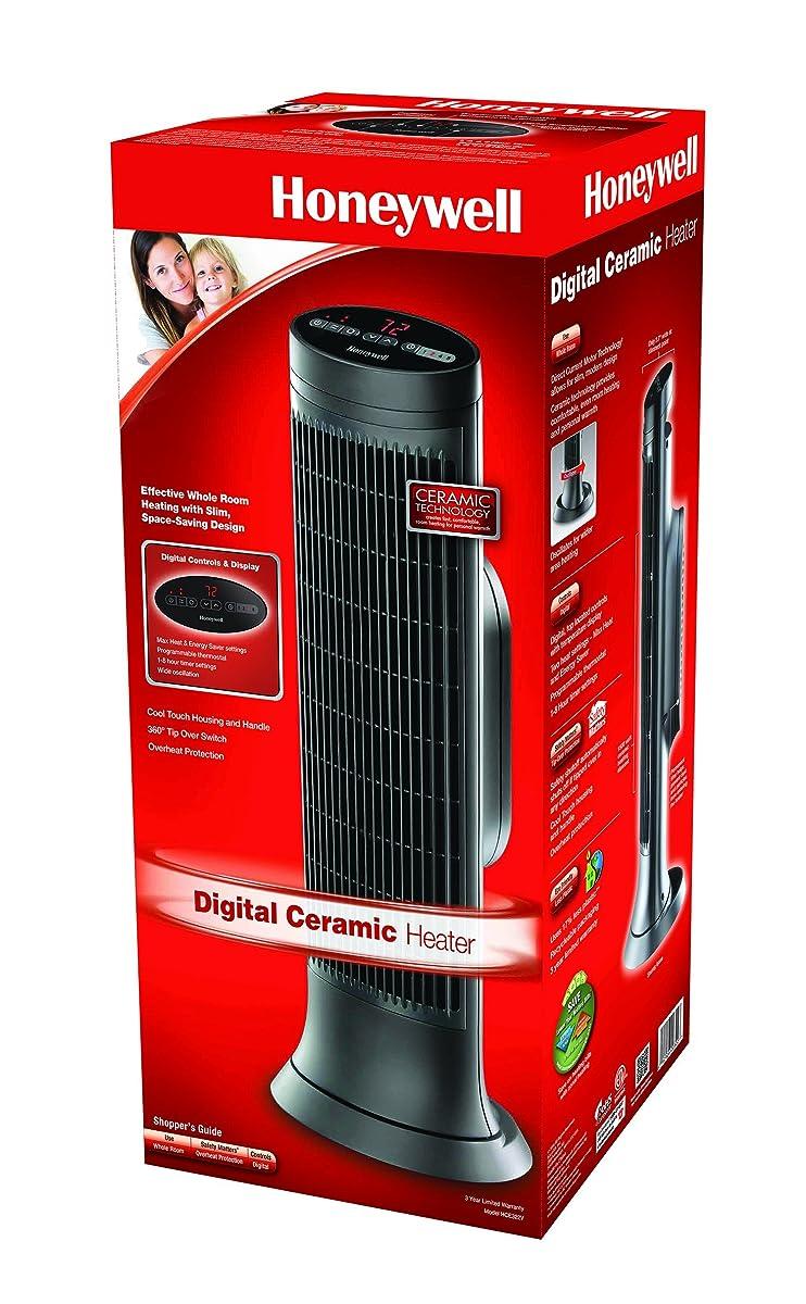 Honeywell HCE322V Digital Ceramic Whole Room Tower Heater, Black