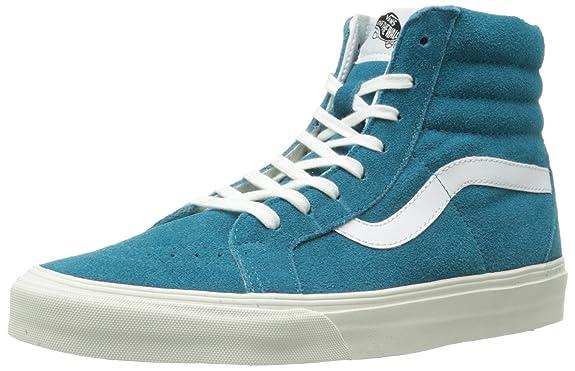 vans sk8 hi skate shoe turquoise monochrome