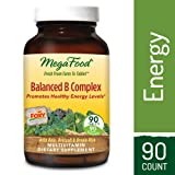 MegaFood - Balanced B Complex, Promotes Energy Production, Alertness, Cognition, Focus, and a Healthy Nervous System with B Vitamins, Folate, and Biotin, Vegan, Gluten-Free, Non-GMO, 90 Tablets (Tamaño: 90)