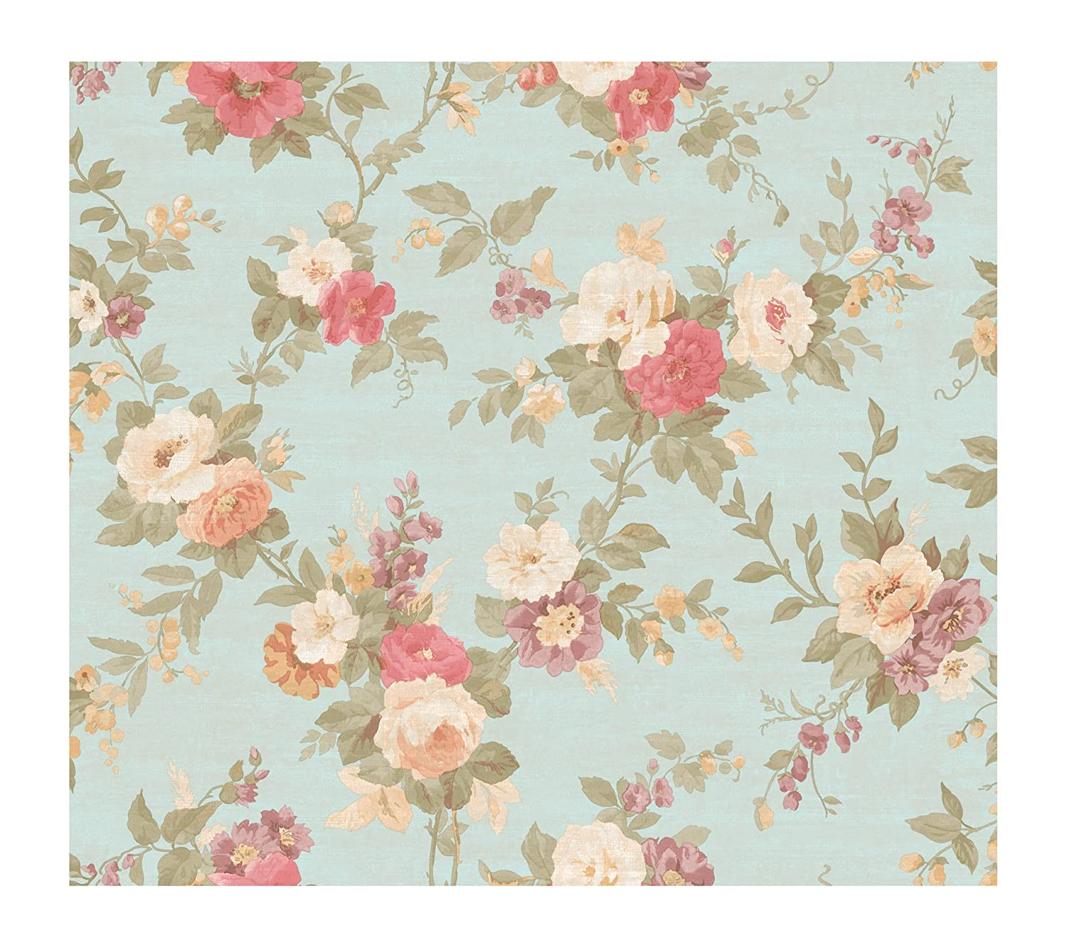 Blue Vintage Roses Wallpaper | www.imgkid.com - The Image ...
