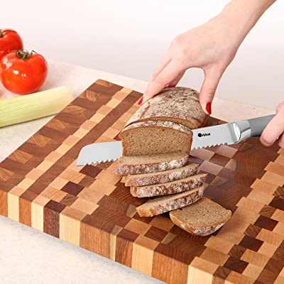 ORBLUE Stainless Steel Serrated Bread Slicer Knife Via Amazon
