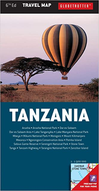 Tanzania Travel Map (Globetrotter Travel Map)