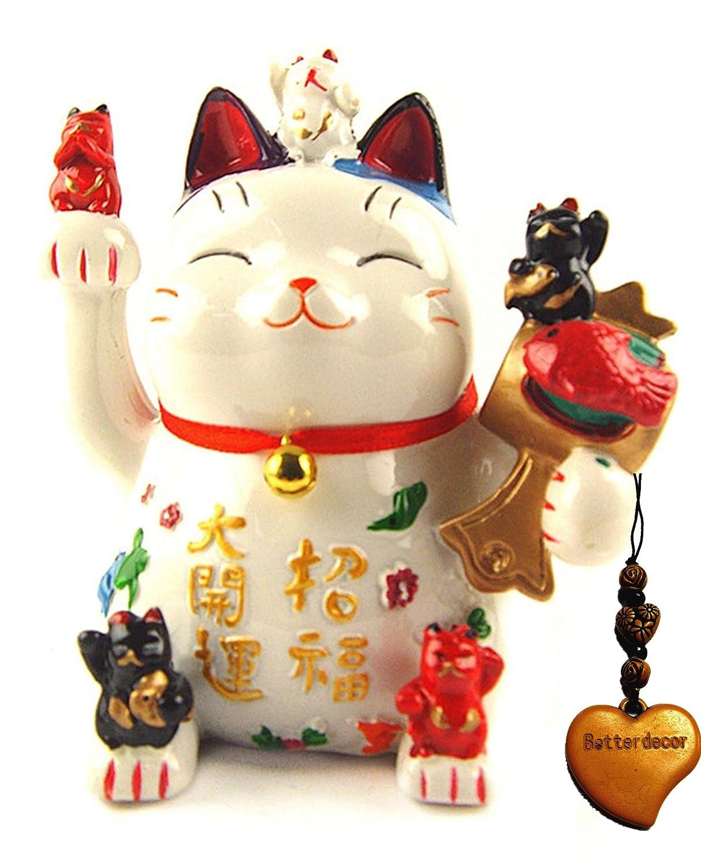 Детская копилка Feng Shui Maneki Neko Lucky Cat Coin Bank for Wealth