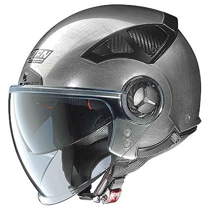 Nolan cLASSIC n 33 eVO casque demi-jet-couleur :  argent-taille :  xL