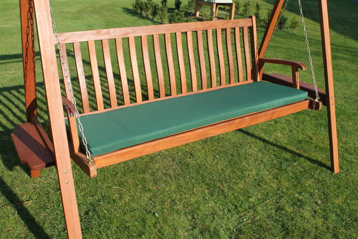 Gartenmöbel-Auflage – Auflage für 3-Sitzer-Hollywoodschaukel oder große Gartenbank in Grün jetzt kaufen