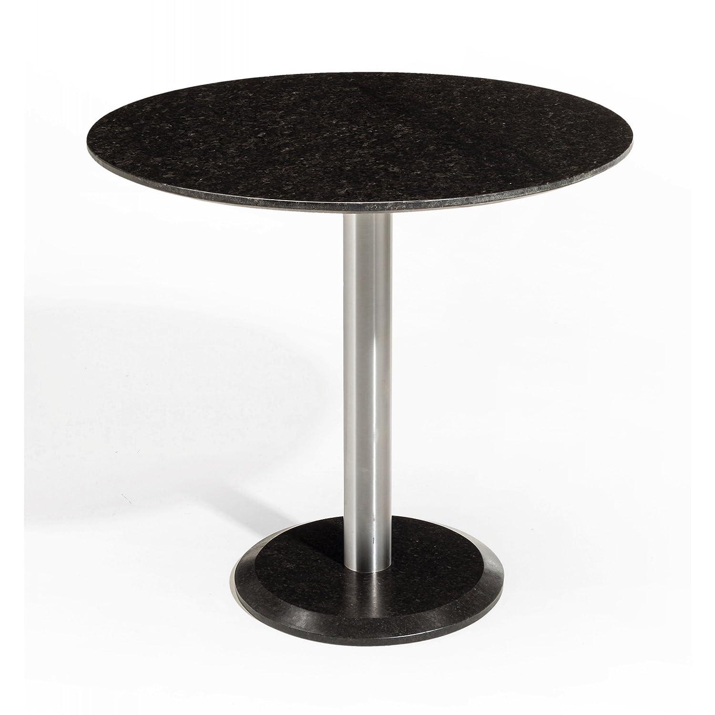 Studio 20 Gartentisch Outdoortisch Granittisch Edam Edelstahl rund ø 80 x 75 cm Tischplatte Pearl black satiniert online kaufen