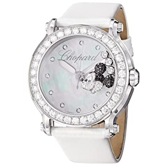 Chopard Women's 288524-3005 LWH Happy Sport Round Analog Display Swiss Quartz White Watch