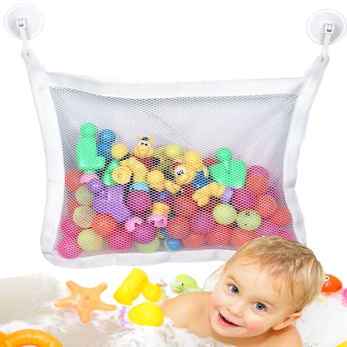 large baby bath toy organizer holder hanging storage bag bathroom children bath ebay. Black Bedroom Furniture Sets. Home Design Ideas