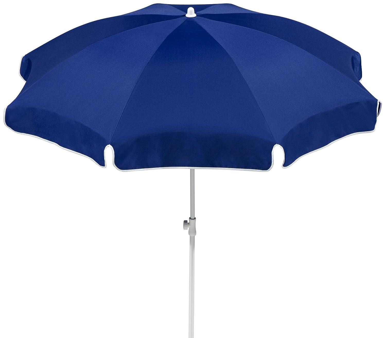 Schneider Sonnenschirm Ibiza, blau, ca. 200 cm Ø, 8-teilig, rund