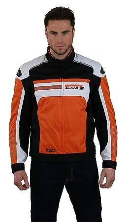 NERVE 21140348_04  X66 Blouson Courte de Moto, Orange, Taille L