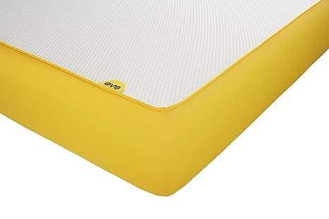 Eve Matratze, Memory Schaum, weiß / gelb, 90 x 200 cm