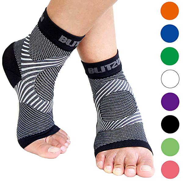 da72233062 Plantar Fasciitis Socks with Arch Support, BEST Foot Care Compression Sleeve,  Better than Night Splint, ...