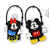 DISNEY Portable Hand Sanitizer with Holder (Mickey & Minnie, 2) (Color: Mickey & Minnie)