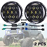 H6024 H4/H13 LED Headlights For Suzuki Samurai SJ410 7 Inch Round High/Low Sealed Beam Projector Lens 6000K Headlamp/Fog/DRL Light Replacement Bulb H5024/5024/6012/6014/6015/H6017 (Package of 2)