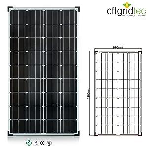 130 Watt Solarmodul  TÜV  MONOZellen 12V Solarpanel  Kritiken und weitere Infos