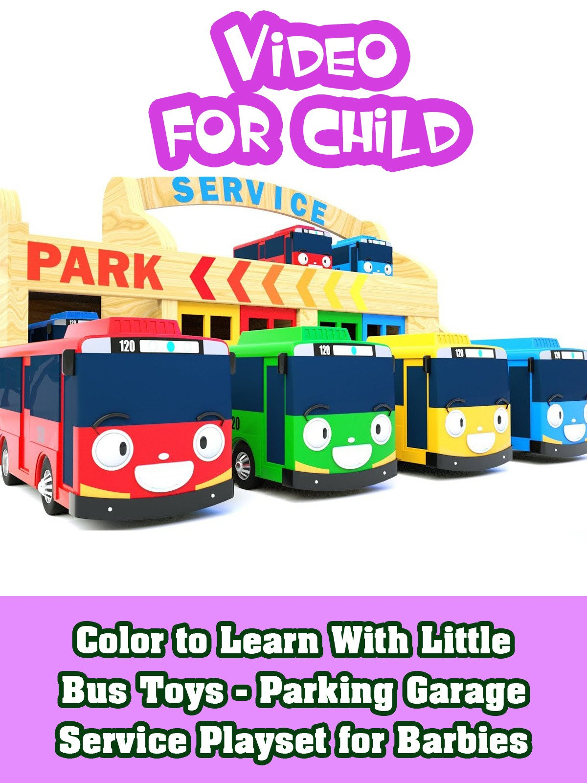 Color to Learn With Little Bus Toys