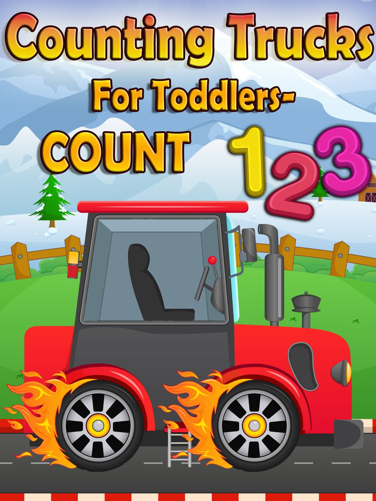 Counting Trucks For Toddlers- Count 123