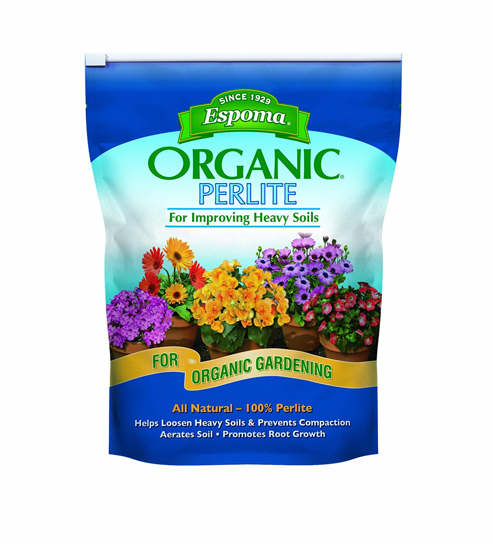 Espoma organic perlite improving heavy soils gardening for Organic soil