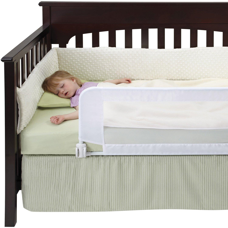 Baby bed rails - Dexbaby Safe Sleeper Convertible Crib Bed Rail White