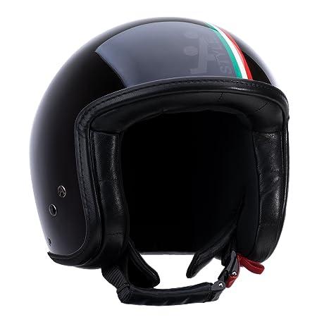 """A-style 0500003S casque jet noir """"italien"""" (taille s 56 cm)"""