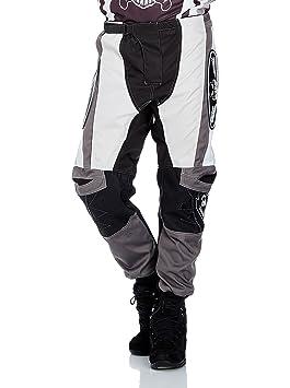 Roleff Racewear 8607 Pantalon Motocross, Noir/Gris, XXXL
