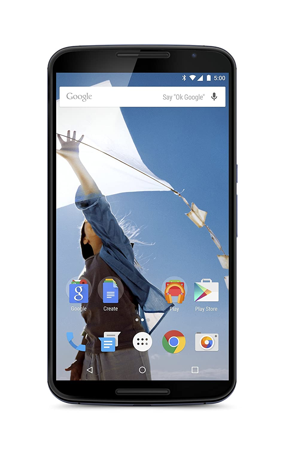 Motorola Nexus 6 Unlocked Cellphone, 32GB, Midnight Blue (U.S. Warranty) (Discontinued by Manufacturer)