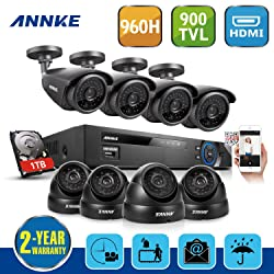 Annke® 1000GB HDD 8CH 960H CCTV DVR Surveillance Video Recorder