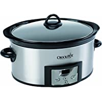 Crock-Pot SCCPVC605-S 6-Quart Countdown Programmable Oval Slow Cooker with Dipper (Stainless Steel)