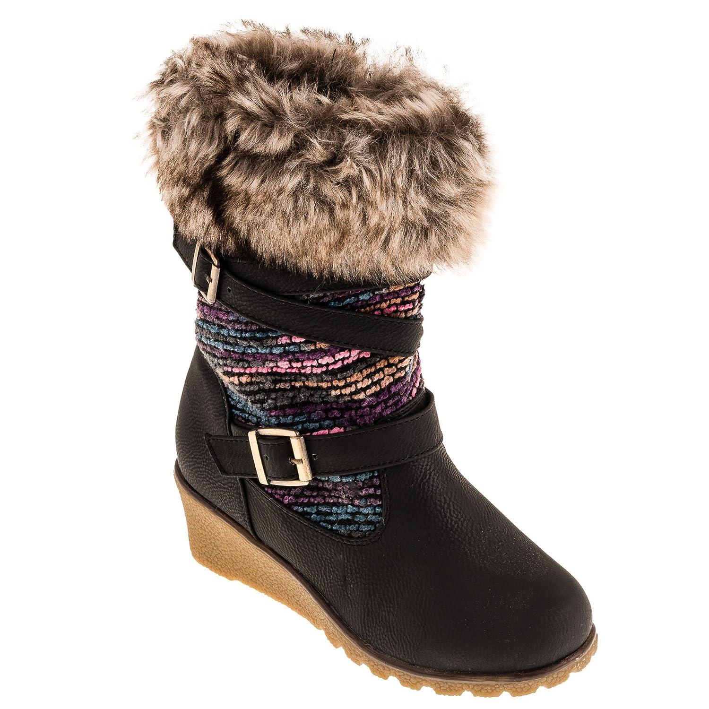 #597 Gefütterte warme Mädchen Stiefel günstig