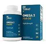 Dr Tobias Omega 3 Fish Oil Triple Strength, Burpless, Non-GMO, NSF-Certified, 180 Counts (Tamaño: 180 Count)