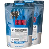 Hard Rhino D-Aspartic Acid (DAA) Powder, 1 Kilogram (2.2 Lbs), Unflavored, Lab-Tested, Scoop Included (Tamaño: 1 Kilogram (2.2 Lbs))