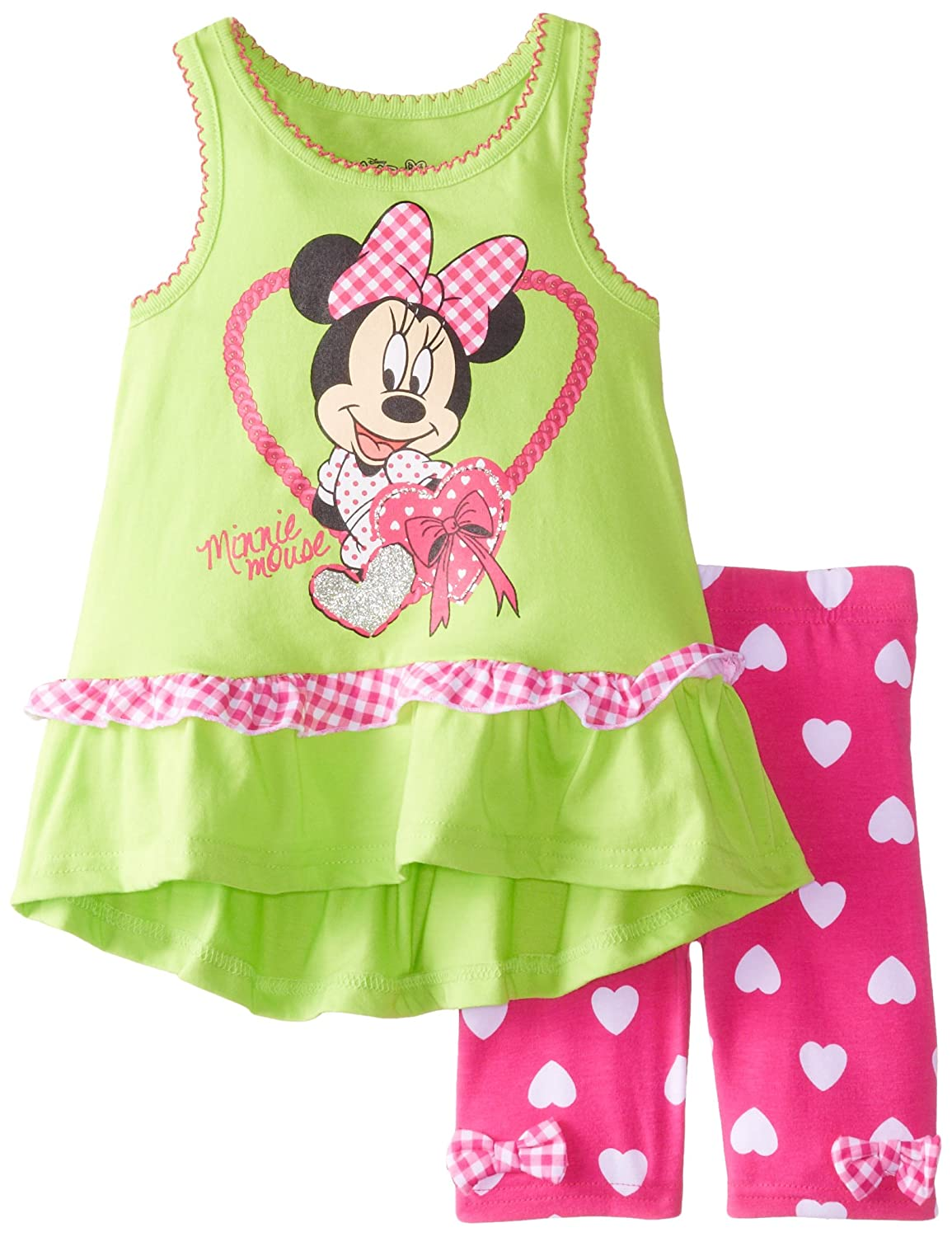 Disney Little Girls' 2 Piece Minnie Mouse Screen-Print Bike Set