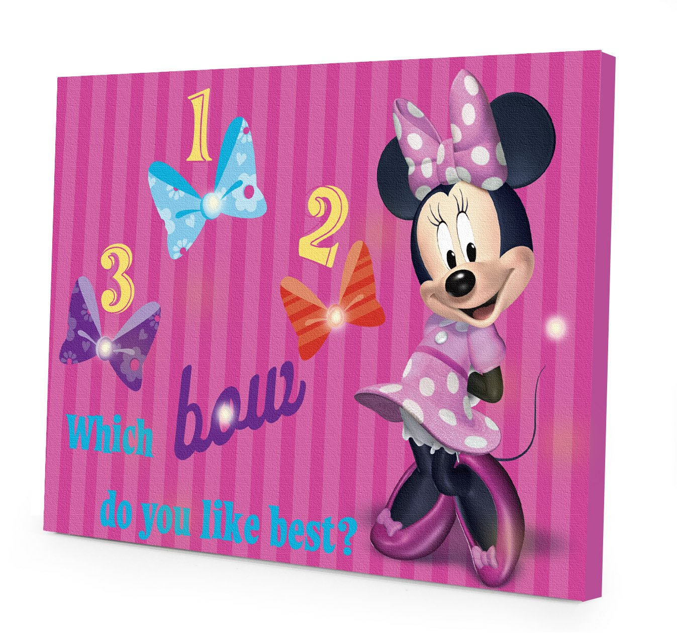 Disney Minnie Mouse Led Canvas Wall Art Kids Girls Room