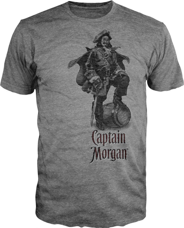 bioworld captain morgan grey men 39 s t shirt hq1 ebay. Black Bedroom Furniture Sets. Home Design Ideas