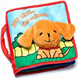 OUR BEST SOFT BOOK for BABIES Fabric Activity Crinkle Cloth Books, Handmade Educational Toys for Baby, 1 Year Old, Toddler with Peekaboo Flap, Interactive Baby Shower Gifts Boy Girl, Gift Box & eBook