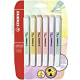 STABILO B-52740-10 Blister Swing Cool Pastel Highlighter (Pack of 6) (Tamaño: 6er Blister)