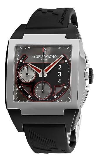 de GRISOGONO Power Breaker N02 Mens Black Rubber Strap Automatic Chronograph Watch