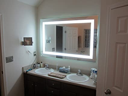 "Lighted Vanity Mirror LED MAM86040 Commercial Grade 60"" Wide x 40"" Tall"