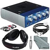 PreSonus HP4 4-Channel Headphone Distribution Amplifier and Bundle w/ Headphones + Cables + Adapter + Fibertique Cloth
